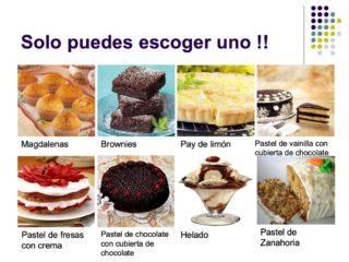 ¡Sólo puedes escoger uno! 8 tipos de pasteles.